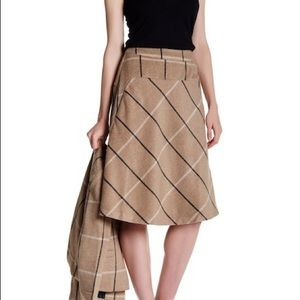 🍃🌹 Catherine Malandrino - 'Flare Plaid' Skirt